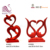 2018 Innovative Red Resin Heart Shaped Love Birds And Swans Figurine for Wedding Decoration