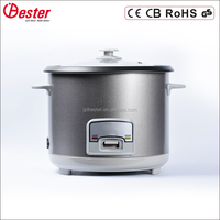 Commercial use big size joint body straight steamer rice cooker for 30 people