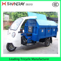 Hot Sale!!! Half Closed Cabin 3 WHEEL GARBAGE TRICYCLE