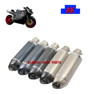 Fashion exquisite multi color style universal modified refit motorcycle exhaust pipe muffler clamp motorcycles sports streetbike