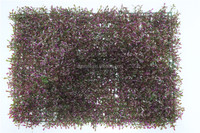 Plastic Wall Decoration Violet Plant Wall Mat Boxwood Hedge Plant LGH15-07