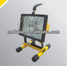 on top sale and new design 500w IP44 portable halogen light with support