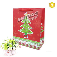 Christmas gift paper bag for packing.xmas gift shopping packaging bag