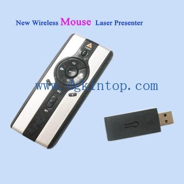 RF multimedia wireless laser pointer presenter with mouse