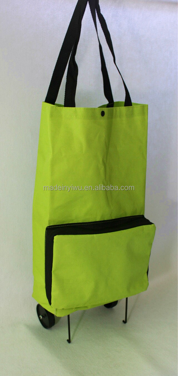 foldable grocery shopping bag with wheels