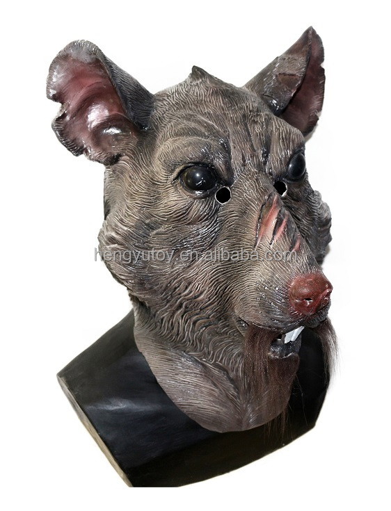 Splinter Mask Teenage Mutant Ninja Turtles TMNT Rat Head Master Costume Face Adult New