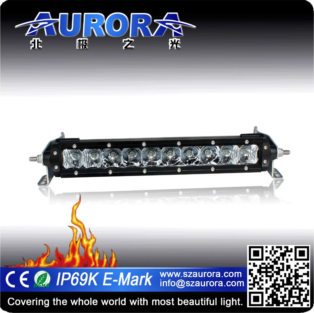 2017 tough quality Aurora 10inch single row ECE R112 LED light bar