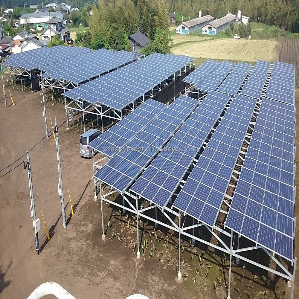 China ground mounted solution and grid tie pure sine wave inverter 2kw and Solar Panel part