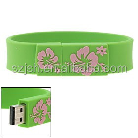 Custom Logo USB Bracelet/Wristband Bulk 4GB 8GB 16GB 32GB Hard Disk Gift USB Flash Drives USB pen drive 64gb 2.0