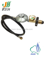 china supplier aga natural propane gas regulator with guage adjustment