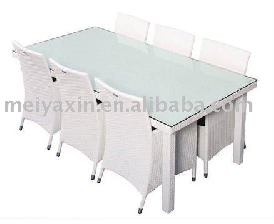 wei outdoor rattan esstisch st hle md 133 tisch im freien produkt id 451083164. Black Bedroom Furniture Sets. Home Design Ideas