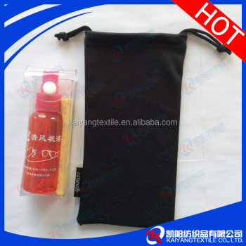 Small M.O.Q embossing logo durable microfiber optical cleaning bag