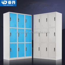 used office furniture uniform hanging nine door clothes storage cabinets