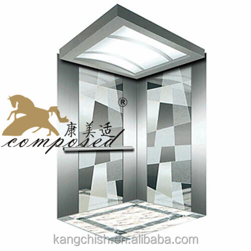 small shaft CE EN 81 Elevadores de carga crystal home elevator