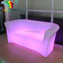 Home Mobile Lighting Furniture Sofa LED Sofa Color Changing LED Furniture Sofa