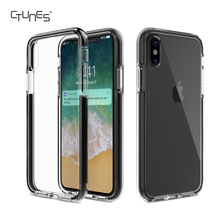 Clear Light Slim Flexible Bumper TPU Rubber Scratch-resistant Protective Cases Cover for Apple iPhone X