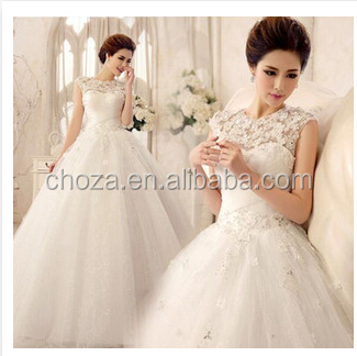 C63149A white color beautiful wedding dress design for women