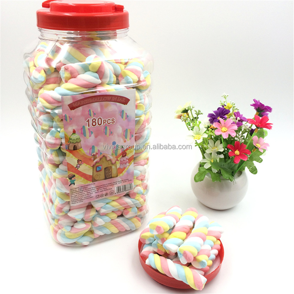 Halal Packed in Jar Twisted marshmallow