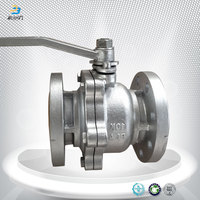 DN80 dn100 cast steel wcb two piece flanges ball valve