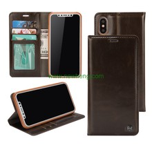 Fashion PU leather case for iPhone X wallet case with card slot