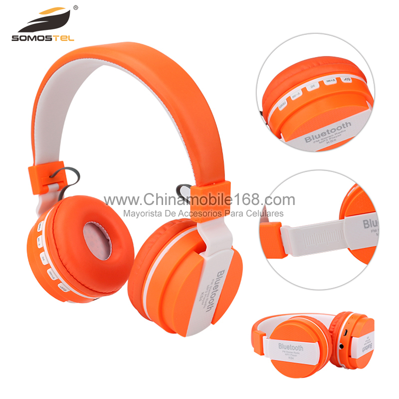 [Somostel] Free logo print Smart wireless stereo headphone Bluetooth, portable fold sport wireless bluetooth headset