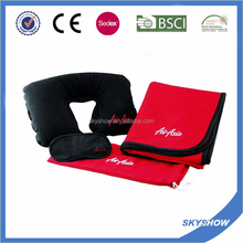 2017 hot sale AirAsia travel blanket kits