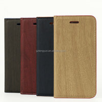 Wood Pattern Leather Case with Card Slot for iPhone 6, for iphone 6 plus case