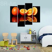 Fruits Orange Painting Canvas Prints Large Wall Art Modern Still life Picture Poster for Living Room Study Office Decor