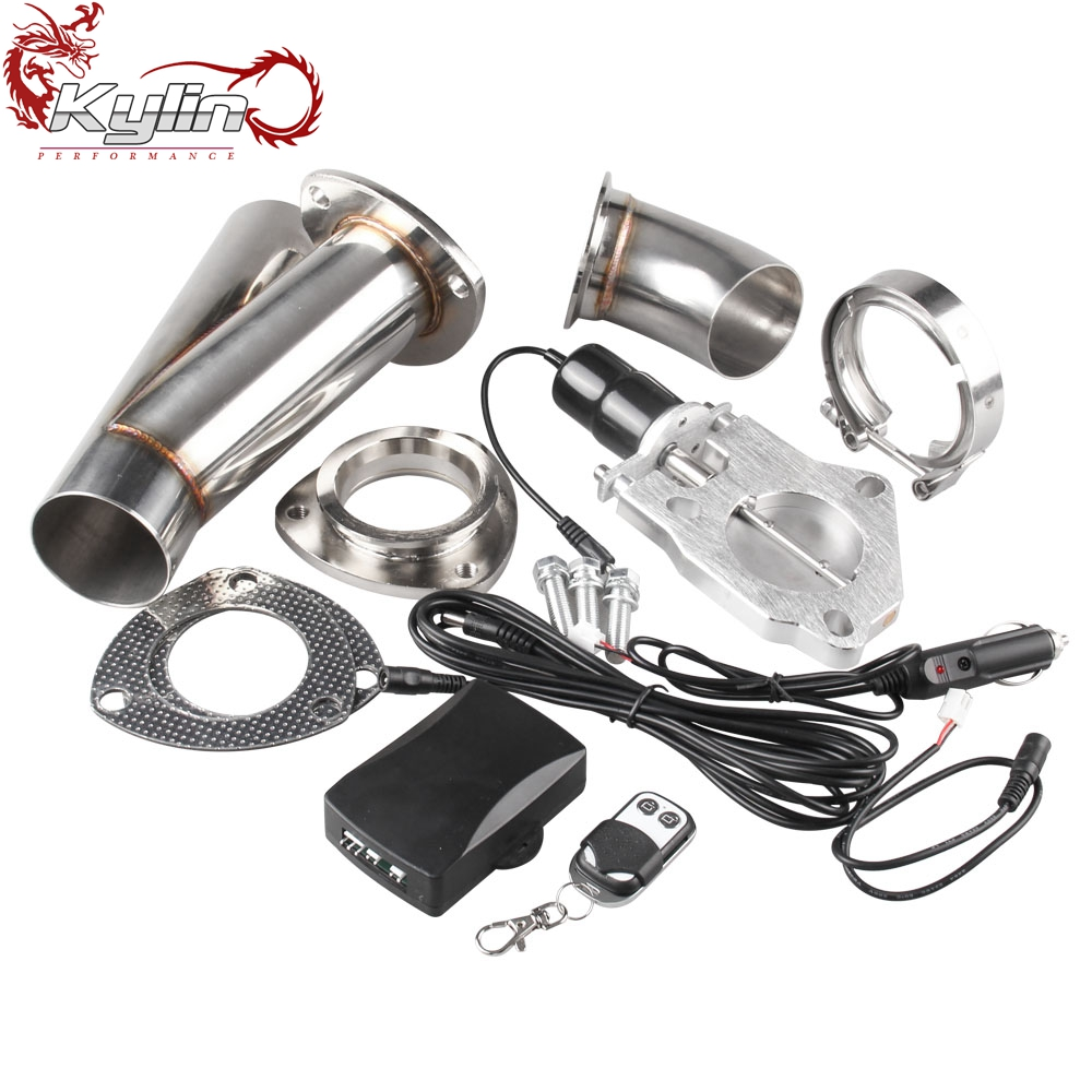 Ryanstar Racing Stainless Steel Y Headers Pair Electric Exhaust Cutout In <strong>Muffler</strong> with Combo Switch