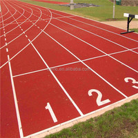 IAAF certificated synthetic waterproof rubber running track