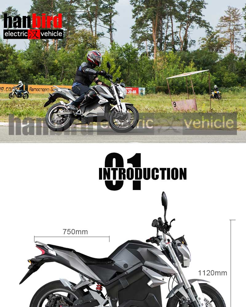 Brushless Motor 65km Long Driving  Adult Electric Motorcycles