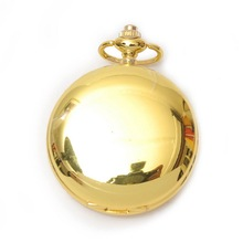 2016 antique color 45mm plain pocket watches DIY by yourself silver pocket watches