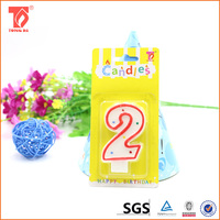 Paraffine wax number birthday candle wholesale