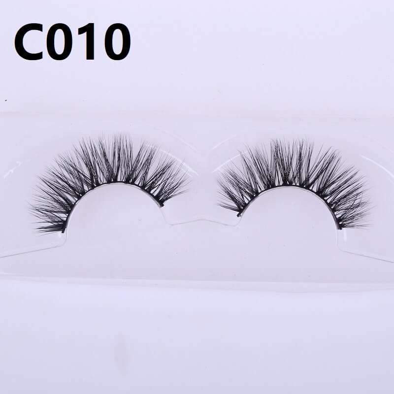 Wholesale Makeup Private Labeling 3D Mink Strip Eye Lashes <strong>C010</strong>
