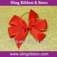 5 Inch Red Fancy Color Satin Bow Gift Ribbon Bow