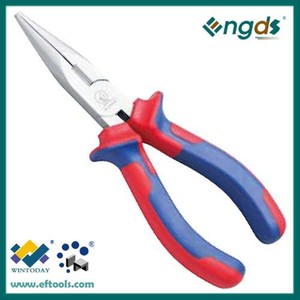 fuctional Germany type plastic grip handle long nose pliers