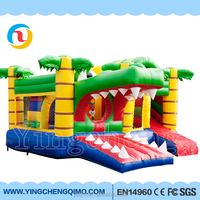 Guangzhou cheap hot sale funny crocodile animal zoo Inflatable Bouncy jumping Castle