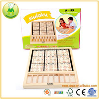 Alibaba Hot Sales Educational Math Toys Wooden Sudoku Board Game