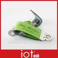 8GB Company Logo Corporate Leather Gifts USB