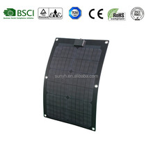 American market hot sales 25W Semi flexible solar panel for boat ,vehicle