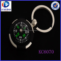 2014 newest arrival high quality round shaped compass key chain