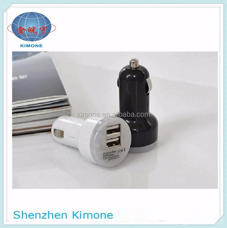 2 USB Ports Car Charger 5V 2.1A 1A Dual USB Car Charger For iPhone 5 6 6s For ipad 2 3 4 5 For Samsung Galaxy