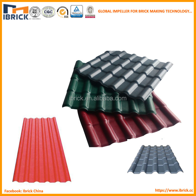 plastic raw materials prices pvc roof tile synthetic resin roofing tile for roofing