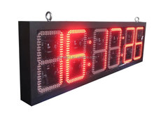 Remote control countdown outdoor digital led clock, CE&ROHS approved !!!!!!!
