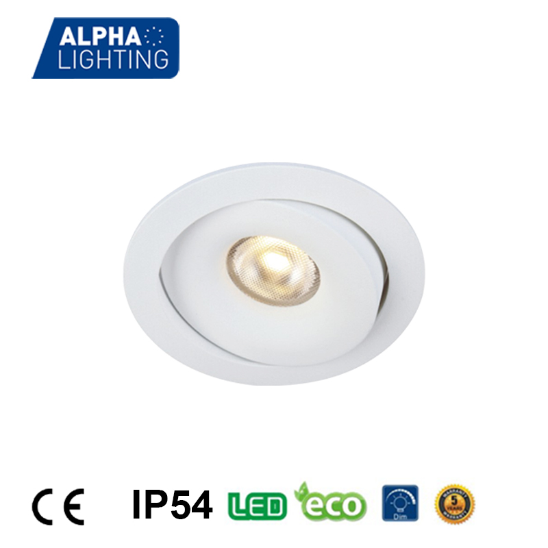 7W high quality IP54 aluminum high CRI led ceiling pot lights