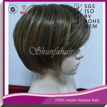 Small cap full lace wig,full lace virgin brazilian human hair wig,halle berry short style full lace wig