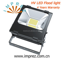 New arrival driverless flood light 100w HV led outdoor flood light 220-240V IP65 waterproof 4years warranty CE SAA certificate