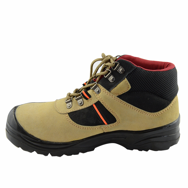 UG-198 Feet protective CE EN 20 345 suede leather safety work laced-up shoes