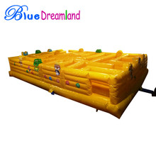 Giant high quality PVC Outdoor Inflatable trampoline inflatable maze obstacle course on sales
