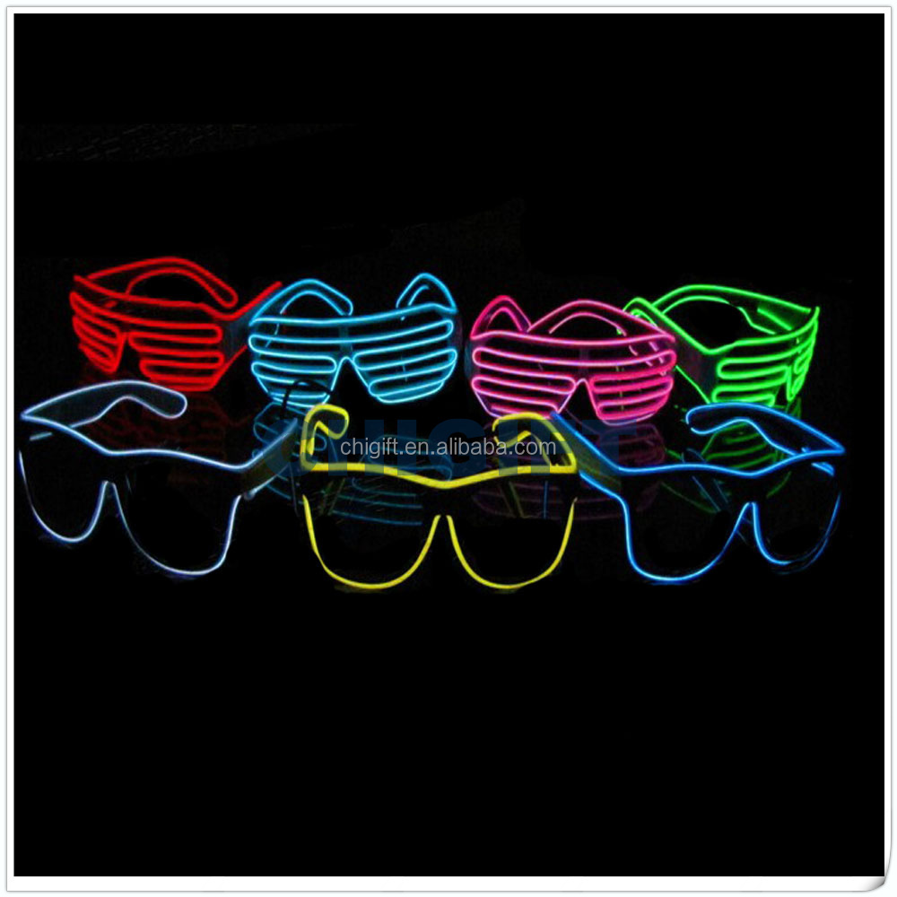 EL Wire Flashing LED Sunglasses